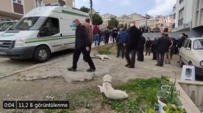 Pamuk isimli köpeğin 14 gün hastane kapısında beklediği kişi hayatını kaybetti