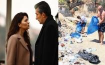Paramparça dizi ekibi Domuz Adası'nı çöplük haline getirdi!