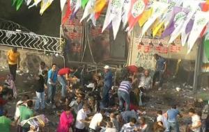 Patlamadan kaçan HDP'lilere gaz bombası!