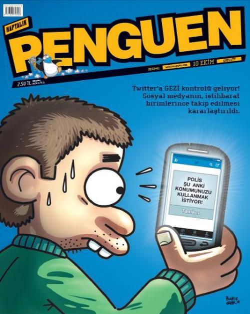 Polisin Twitter kontrolü Penguen'e kapak oldu!