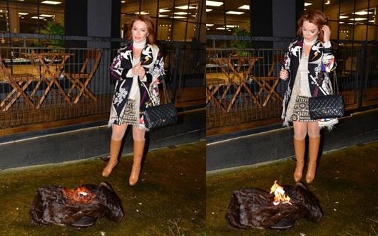 Pınar Eliçe 300 bin TL'lik kürkünü yaktı!