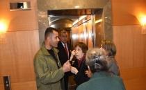 Rahşan Ecevit'i Hulusi Akar gelecek diye asansörden indirdiler