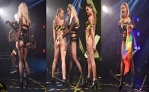 Rita Ora sahneye LGBTİ bayrağıyla çıktı!