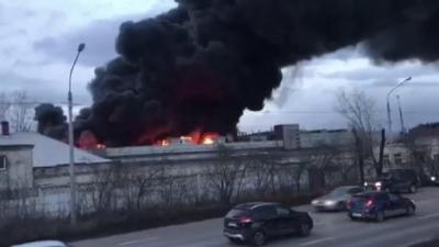 Rusya'da balistik füze fabrikasının deposunda yangın