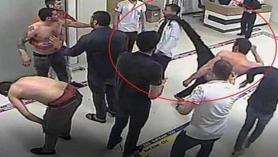Samsun'da bir şahıs doktorun yüzüne tekme attı