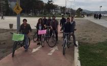 Samsun'da nükleere karşı bisiklet eylemi!