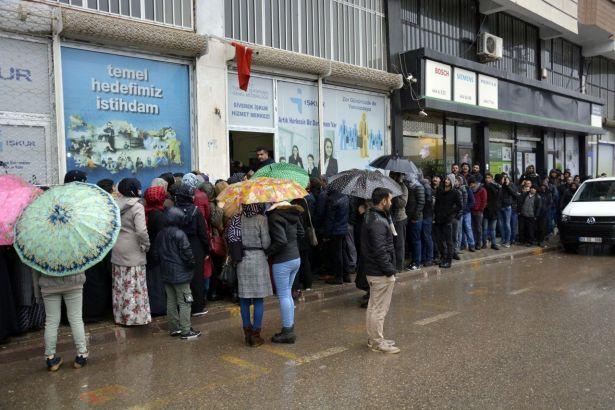 Şanlıurfa'da 120 kişinin alınacağı işe 5 bin kişi başvurdu