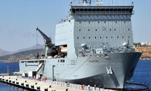 İngiliz savaş gemisi Bodrum'da!