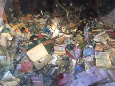 Sel felaketinde 19 bin kitap kullanılamaz hale geldi