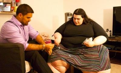 Sevgilisiyle yatağa sığmayınca 121 kilo verdi