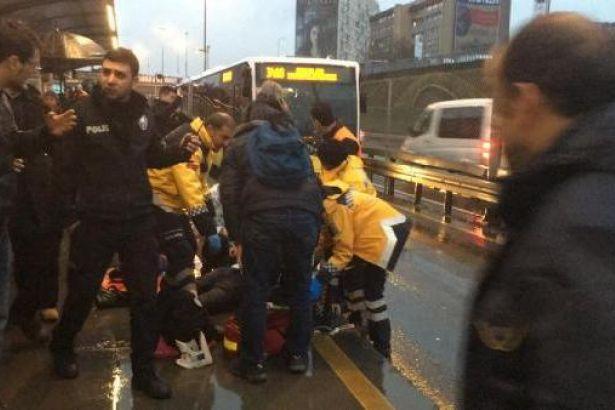 Şişli'de metrobüsün çarptığı yaya hayatını kaybetti