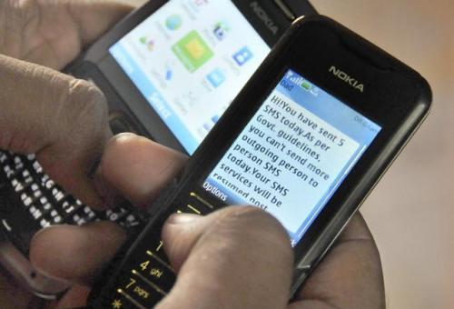 SMS yasaklandı!