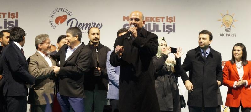 Soylu: Polisimiz HDP'li vekilleri şapa oturttu, terör örgütlerinin tozunu atıyoruz