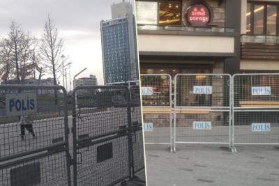 Taksim bariyerlerle kapatıldı