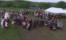 Tarih festivalinde insansız hava aracına mızraklı saldırı!