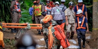 Tayland'daki mağarada gazetecilerin görüntü alması engellendi