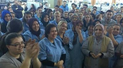 Tekirdağ'da 200 kadın işçi üretimi durdurdu