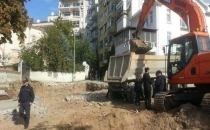 Tepkilerin ardından Cihangir Roma Parkı'na sosyal tesis yapımı durduruldu