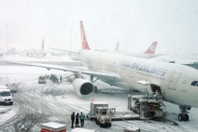 Meteoroloji kar uyarısı yaptı, THY 34 seferini iptal etti