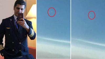 THY Pilotu cep telefonuyla kaydetti: Ben bu kadar hızlı uçan bir şey görmedim, uydu veya yıldız değildi