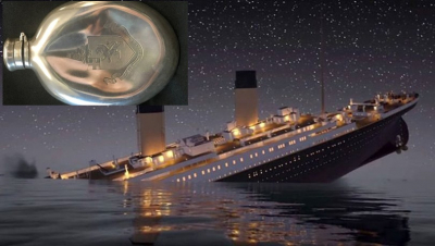 Titanik'in enkazında bulunan konyak şişesi 76 bin sterline satıldı
