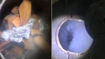 Torbacılar sıcak havada soba yakınca yakayı ele verdi