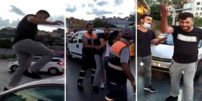 Trafikte kadına küfredip saldıran kişi serbest bırakıldı