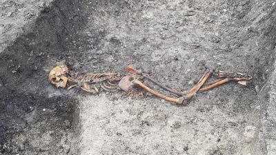 Tren kazısında 2 bin 500 yıllık cinayet ortaya çıktı