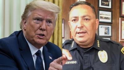 Trump'a 'Çeneni kapat' diyen polis şefi eylemcilerle birleşme çağrısı yaptı