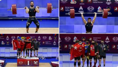 Türk halterci Daniyar İsmayilov, Avrupa şampiyonu oldu