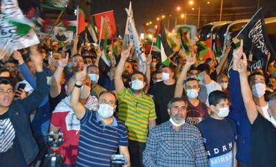 Türkiye'deki İsrail protestoları koronavirüs nedeniyle tepki gördü