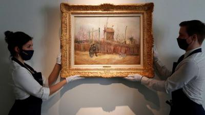 Van Gogh'un 'Montmartre' resmi ilk kez görüntülendi