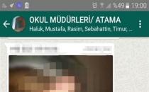 WhatsApp grubuna cinsel organ fotoğrafı gönderen lise müdürü açığa alındı