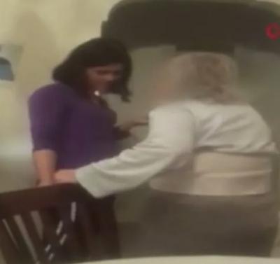 Yaşlı kadına terlik fırlatan Özbek bakıcının 3 buçuk yıla kadar hapsi istendi