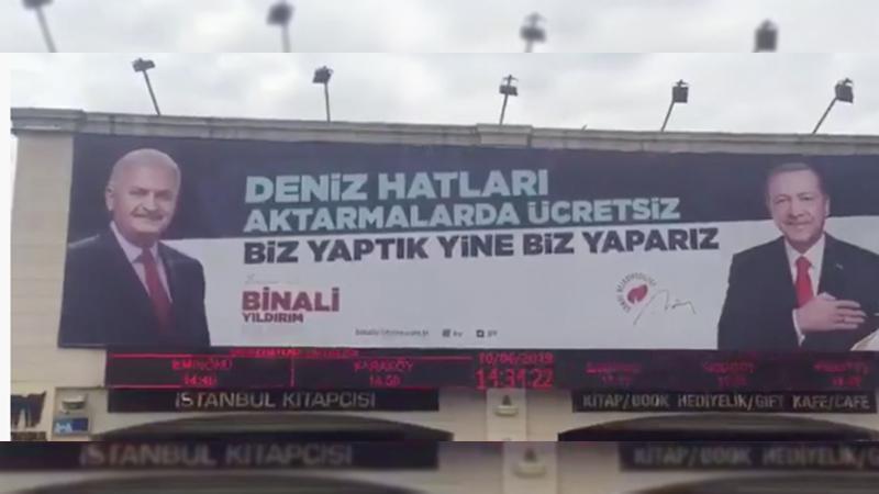 YSK: AKP'nin Kadıköy'deki afişi kaldırılacak