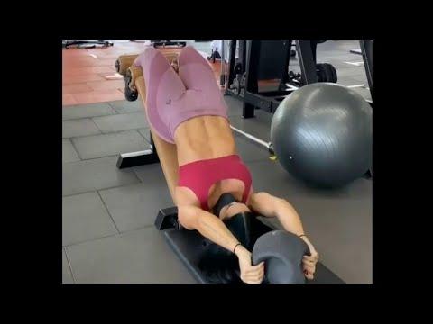 Georgina Rodriguez Hot Model Abs Workout at Gym #2021