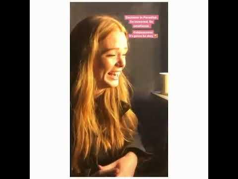 Abigail Cowen on set via Precious's instagram stories 1