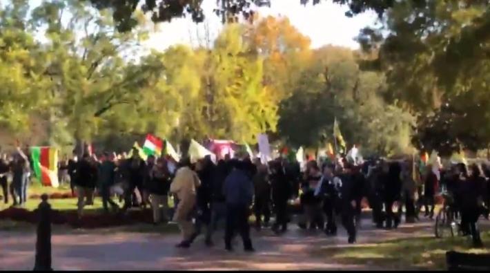 Beyaz Saray önünde Erdoğan protestosu | Video izle
