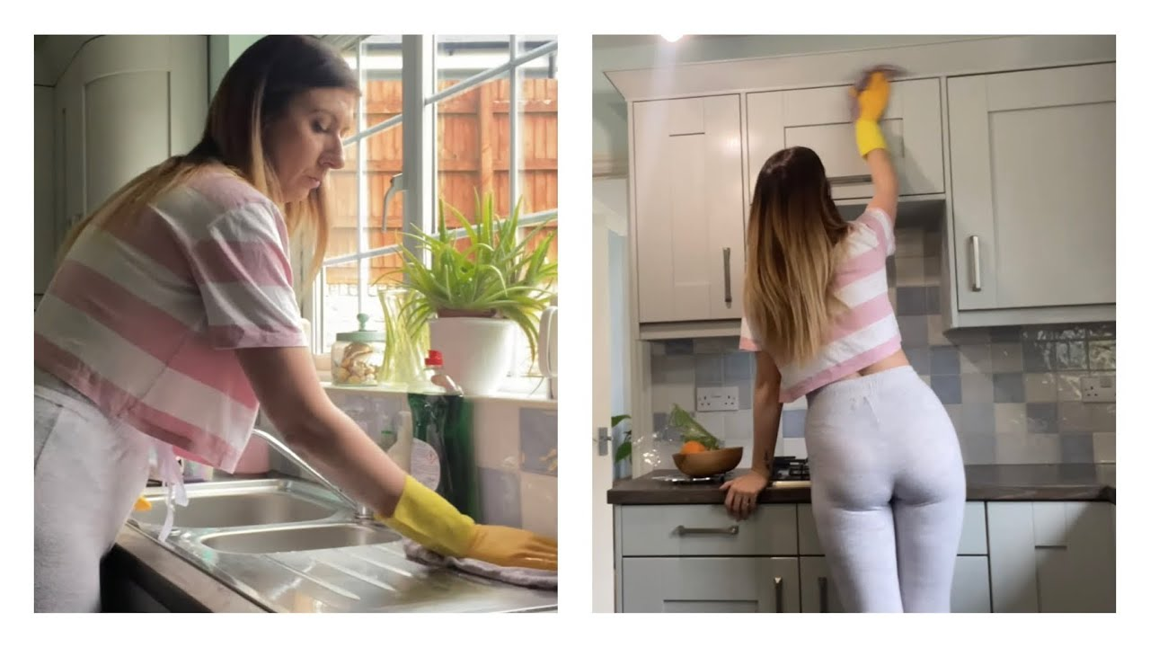 Cleaning My Kitchen ASMR No Talking - Kitchen Cleaning Routine