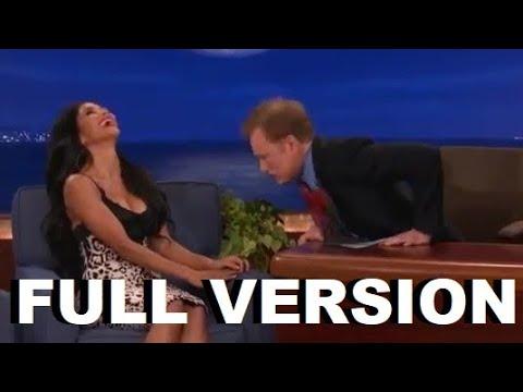 Conan O'Brien Stares At Nicole Scherzinger's Boobs & Scherzinger is angry (Long Full Version)