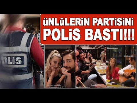 Ünlü isimlerin doğum günü partisine polis baskını!
