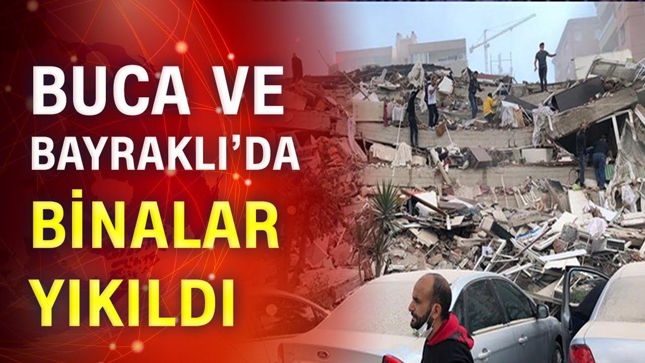 İzmir'de binalar yıkıldı!