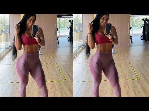 Georgina Rodriguez Hot Model Abs Workout at Gym #2021 #Cr7