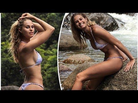 Natalie roser flaunts her toned curves in a skimpy string bikini