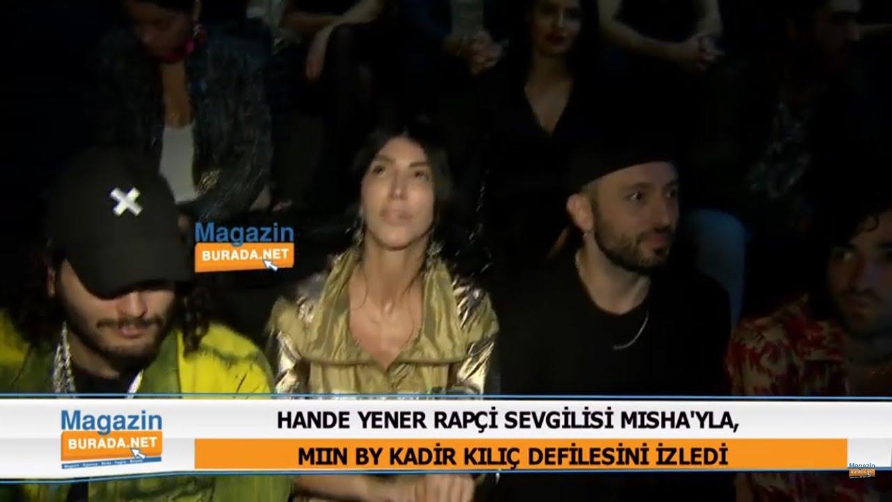 Hande Yener sevgilisi Misha'yla defilede