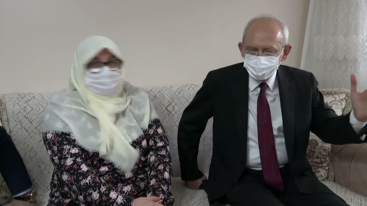 Mahruze Teyze'ye Kılıçdaroğlu ve İmamoğlu'ndan ziyaret