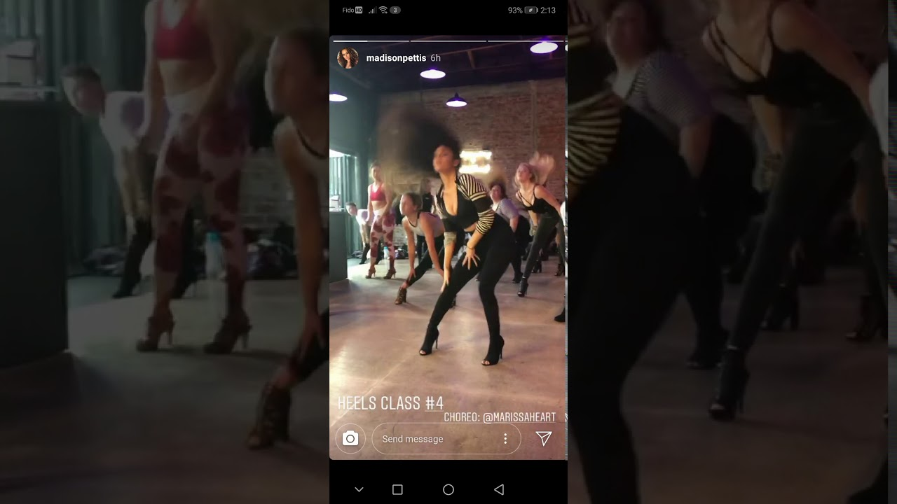 Madison Pettis twerking on Instagram. 2020