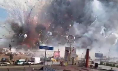 Meksika'da havai fişek deposu böyle patladı! 27 ölü, 70 yaralı..