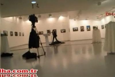 Rusya Büyükelçisi suikastinin hemen ardından yaşananlar kamerada