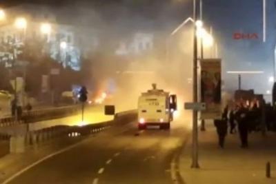 İstanbul Beşiktaş'taki patlamadan ilk görüntüler...